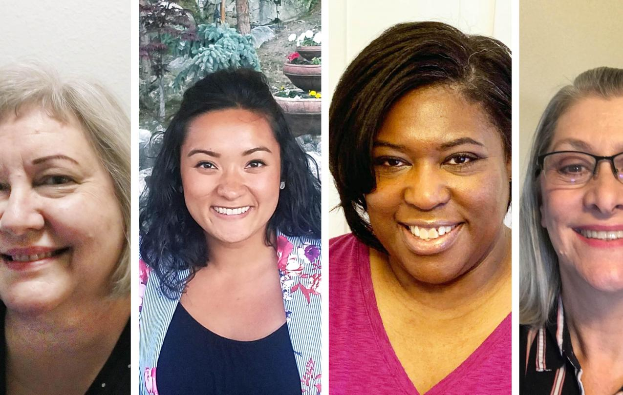 Laura Devereaux, who has been a legal assistant for 24 years, Kanani Palafox, who has been with the office for three years, Danielle Johnson, who has been with the office for 13 years, Sylvia Eichman, who has worked at the office over 20 years